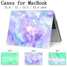 Для ноутбука MacBook Чехол для ноутбука сумка для MacBook Air Pro retina 11 12 13,3 15,4 дюймов с защитой экрана крышка клавиатуры