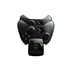 עם 2 סוללות נטענות מסכי כדי להציג את מצב טעינה Gamepad מטען dock עבור Xbox אחד/אחת S /אחד X