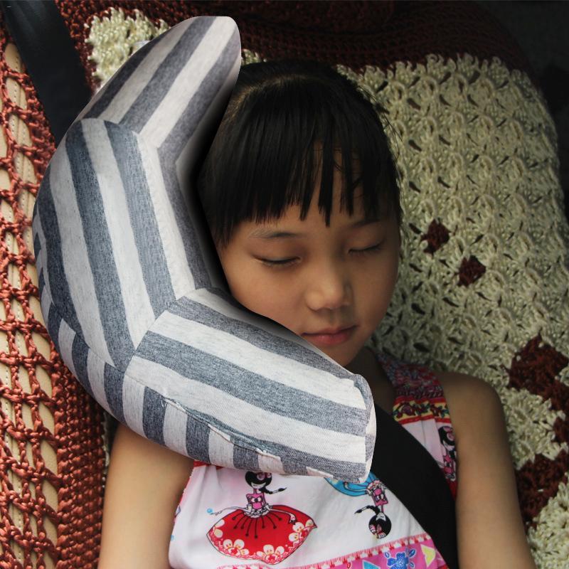 Child Headrest Pillow Shoulder-Cover Car-Seat-Belt Neck-Support Travel Soft Kids