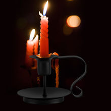 Anti rust Retro Iron Candelabrum Taper Candle Holder Candlestick Stand Candlelight Dinner kitchen home Decoration