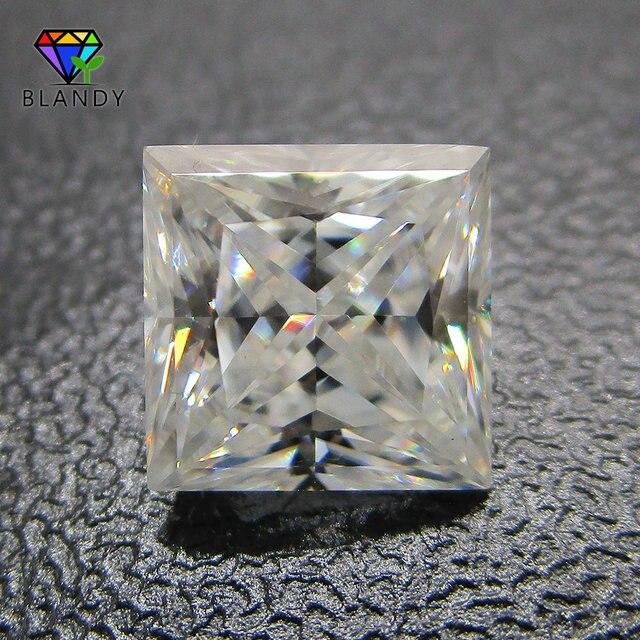 3x3 ~ 12x12 مللي متر مربع الشكل الأميرة قص فضفاض DEF اللون الأبيض مويسانيتي حجر الأحجار الكريمة الاصطناعية ل مجموعات الزفاف الذهب الأبيض
