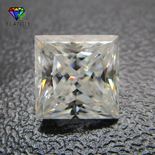 3x3~12x12mm Square Shape Princess Cut Loose DEF Color White Moissanite Stone Synthetic Gems For Wedding Sets White Gold