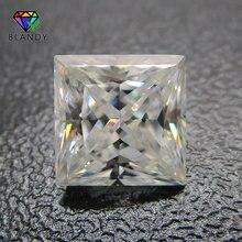 3x3 ~ 12x12mm kare şekli prenses kesim gevşek DEF renk beyaz mozanit taş sentetik taşlar düğün için setleri beyaz altın