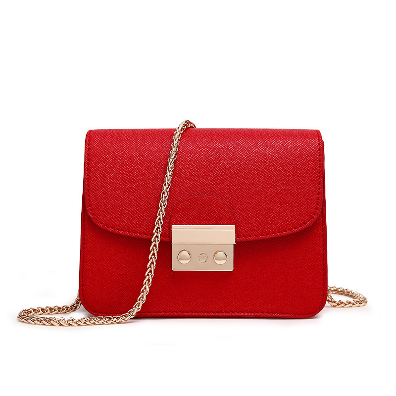 Brand Chains Women PU Leather Handbag Clutch Bags Candy Small Shoulder Crossbody Bags For Women Yellow 2019 Purse Bolsos MujerBrand Chains Women PU Leather Handbag Clutch Bags Candy Small Shoulder Crossbody Bags For Women Yellow 2019 Purse Bolsos Mujer