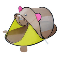 Outdoor Game Tent Portable Tent Cartoon Game Tent for Children Playing Ball Game Playhouse Grey Bear
