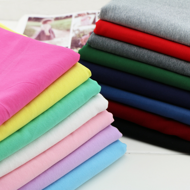 2019 Tissus Au Metre Para Patchwork Small 40 Teams Combed Cotton Knitted Chun Xia Xiaomao Summer Sportswear Fabrics Of High