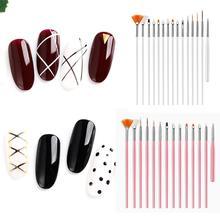 Professional Nail Art Paint Drawing Pen Casual Set Brush Design Kit Wom