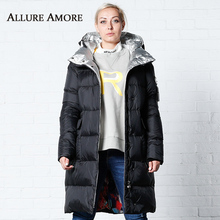 Winter Jacket Removable Hooded Women New Womens Parka Female Long Jackets Woman Coat 2019 Coats AllureAmore