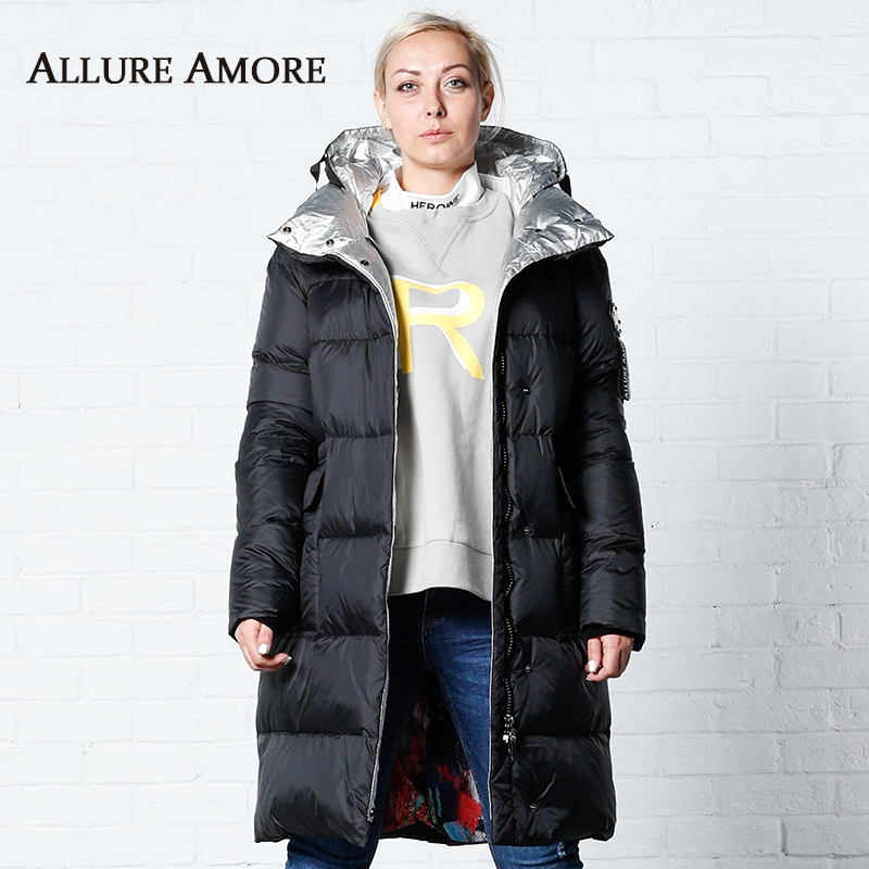 Winter Jacket Removable Hooded Women New Women's   Parka   Female Long Winter Jackets Woman Coat 2019 Winter Coats Women AllureAmore