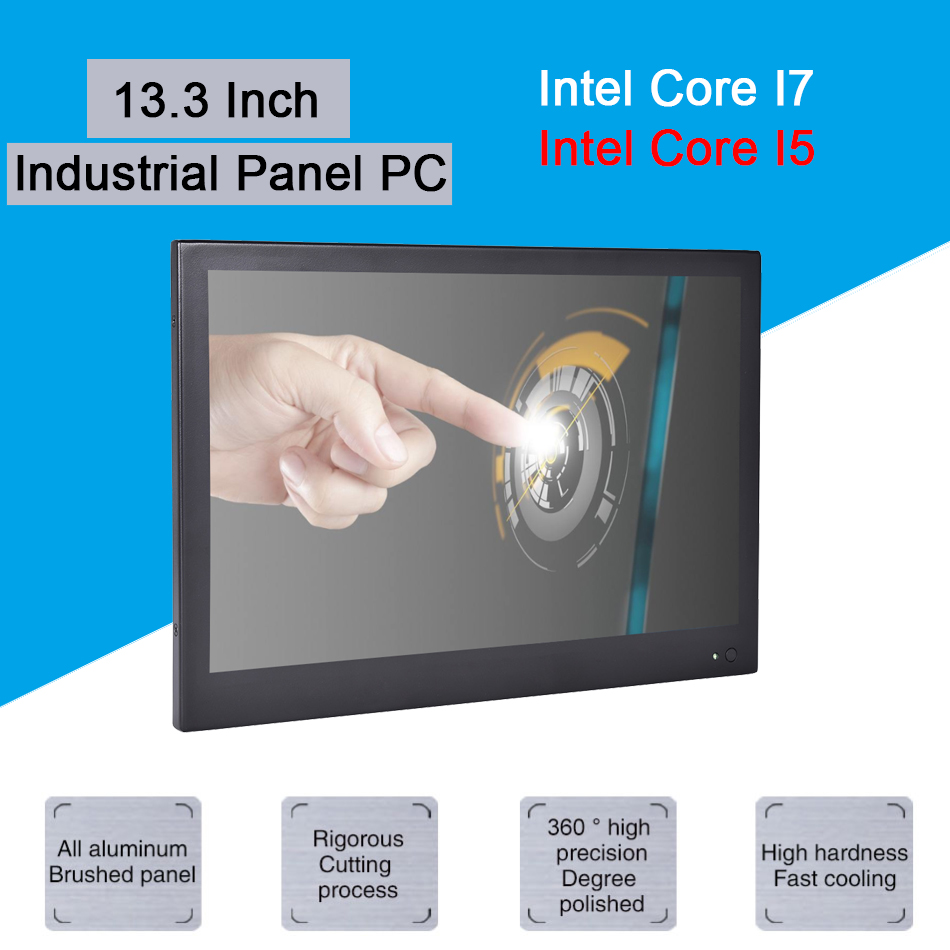 13.3 Inch Industrial Touch Panel PC,4 Wire Resistive Touch Screen,Windows 7/10,Linux,Intel Core I5 3317U,[HUNSN DA11W]