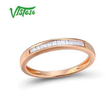 VISTOSO Gold Rings For Women Genuine 14K 585 Rose Gold Ring Sparkling Diamond Glamorous Engagement Round Rings Fine Jewelry - DISCOUNT ITEM  49% OFF All Category