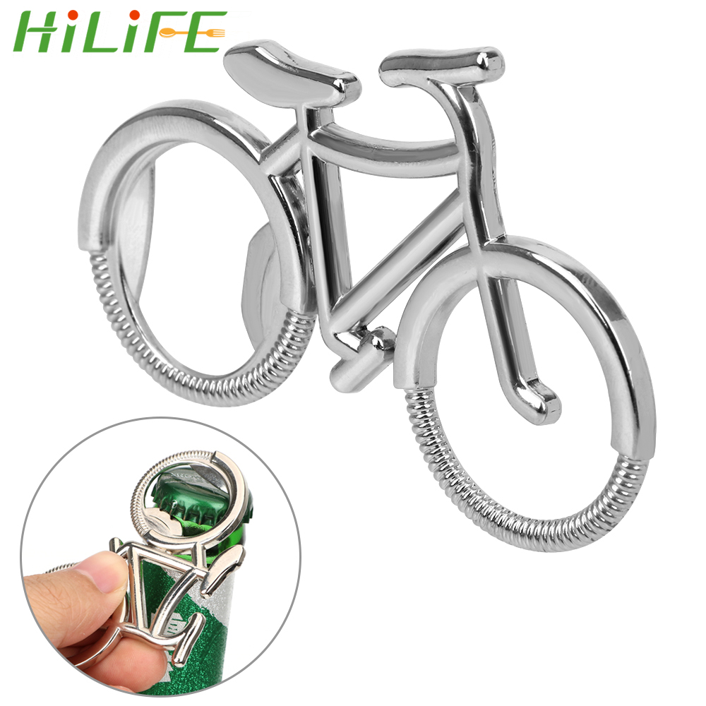 HILIFE Keychain Bottle Opener Zinc Alloy Beer Soda Bottle Opener Keyring Bike Shape Gift For Bicycle Lover Key Chain