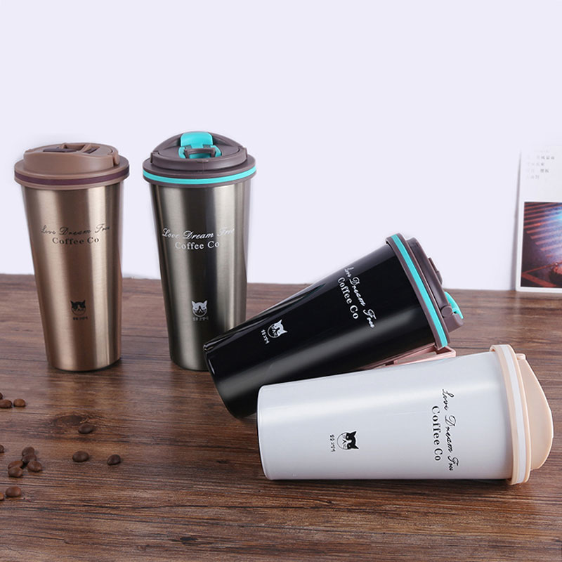 500ML Stainless Steel Vacuum Flasks Thermos Mug Coffee Cup With Lid Thermocup Seal Thermo Mug For Car Water Bottles