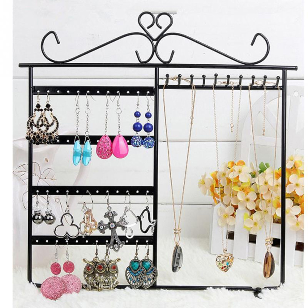Earrings Ear Studs Necklace Jewelry Display Rack Metal Stand Organizer Metal Stand Holder Display Shelf Jewelry earrings