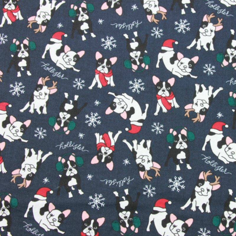 Breathable Cotton Printed Fabric Twill Cotton Sewing Fabric Lovely Dog Printing DIY Patchwork Quilting Crafts For Baby Cloth in Fabric from Home Garden