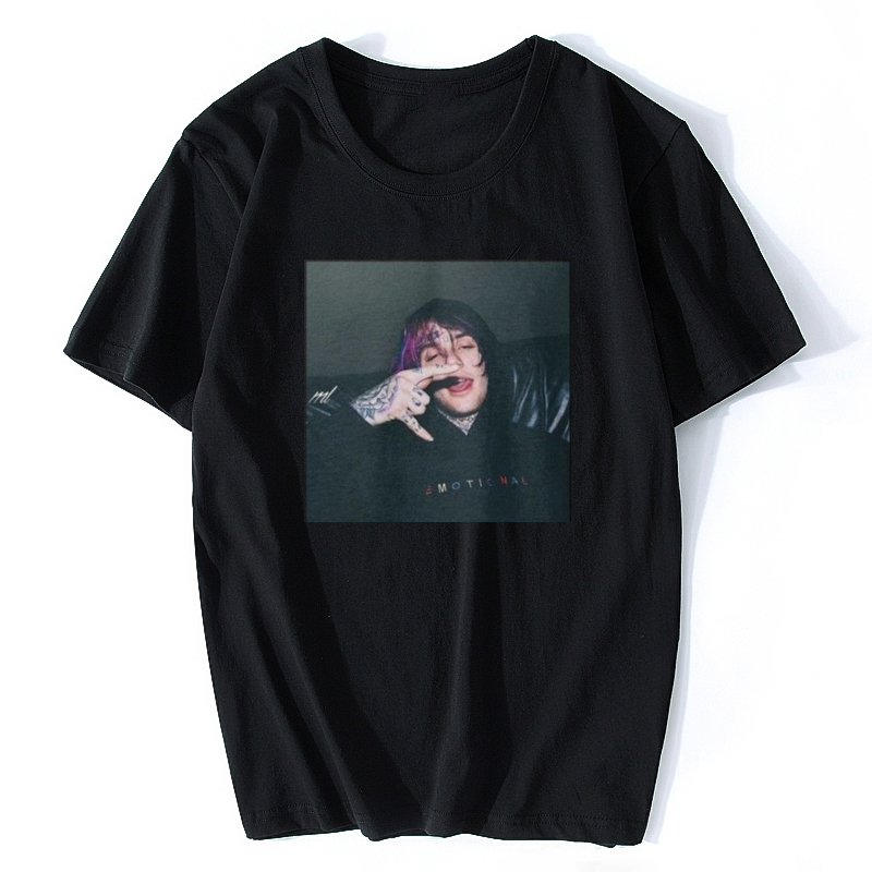 LIL PEEP T SHIRT BLACK WHITE Jurney Print T-shirt Cool Xxxtentacion Tshirt Brand Shirts Print Colour Harajuku Men T Shirt see through angel shirt