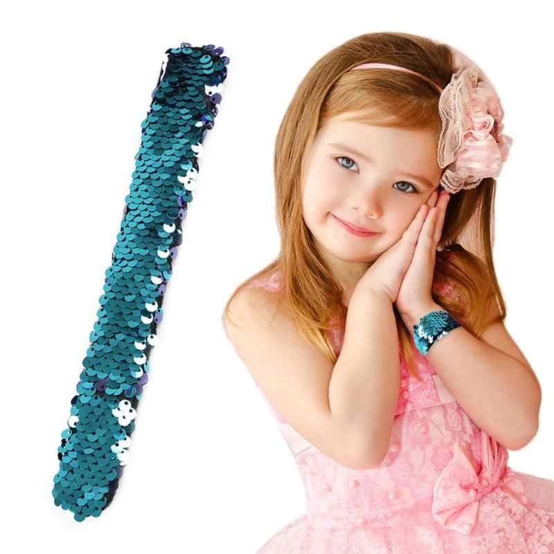 8 Color Sequin Bracelets Glitter Wristband Headband for Kids Party Favors