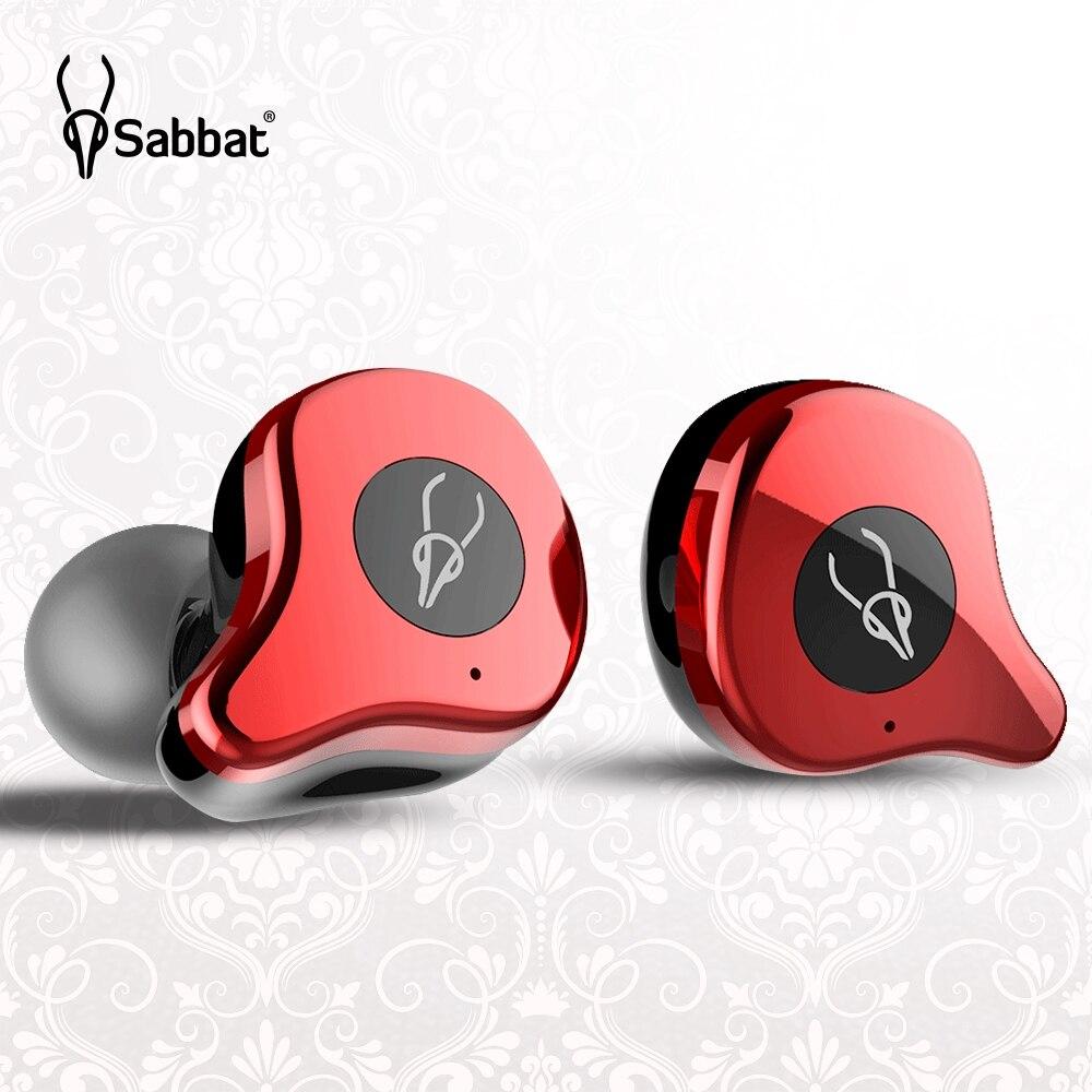 Sabbat E12 Pro TWS sans fil Bluetooth ecouteurs HIFI moniteur Isolation du bruit dans l'oreille Sport casque sans fil chargeur boîte PK X12