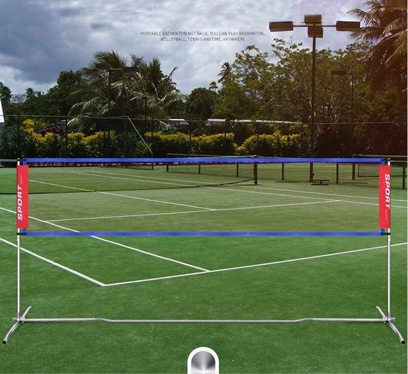Portable Standard Badminton Net Professional Volleyball Training Square Mesh Tennis Badminton Square Net 6.1M*0.76M Shuttlecock