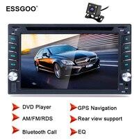 Essgoo 6,2 2 Din автомобиля радио Bluetooth Dvd плеер Gps навигации Fm Rds заднего вида камера дополнительно Стерео Авторадио навигаторы