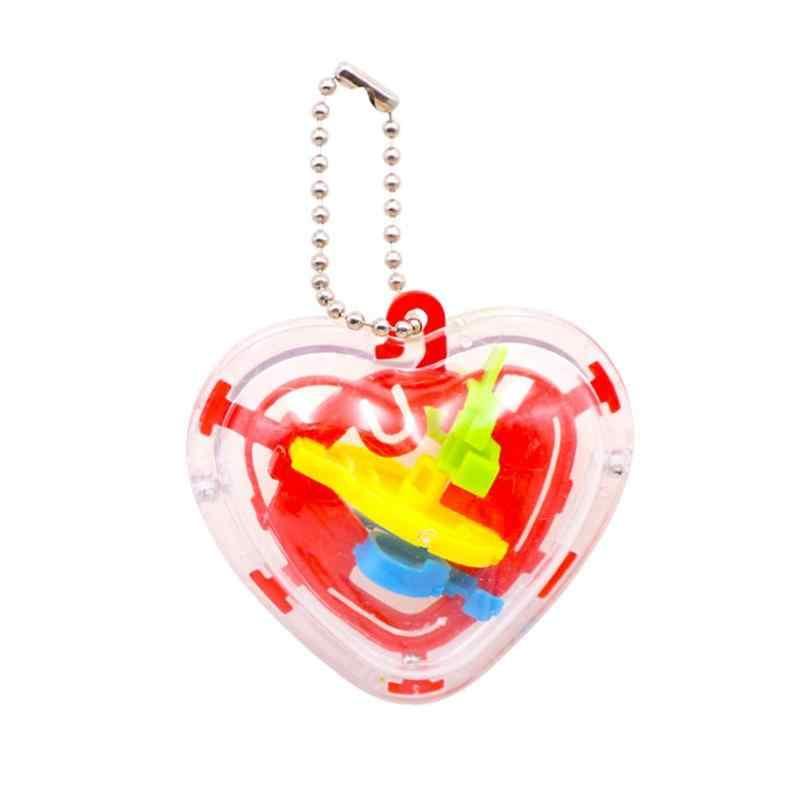 50 пройти 3D лабиринт с шаром головоломка дети в форме сердца лабиринт развивающая игрушка мяч игра и головоломка игрушка подарок игровой мяч