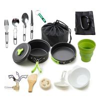 Camping Cookware Set Outdoor Non stick Pan 16 Piece Picnic Cooking Set Hiking Camping Tableware Equipment