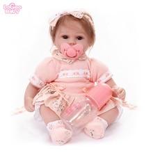 Logeo Baby NEW lovely Lifelike Reborn Baby Dolls Newborn Baby Silicone Baby Doll Filled doll Dollhouse toys child Birthday Gifts цены онлайн