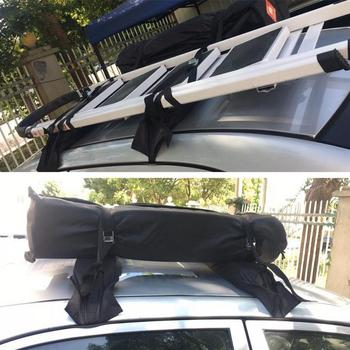60kg Universal Auto Soft Car Roof Rack Luggage Baggage Easy Fit Removable 600D Oxford PVC Roof Racks For Kayak Surfboard 1