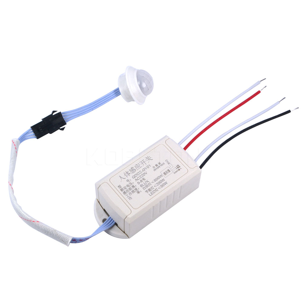 Light Lamp Intelligent-Switch Movement Infrared-Body-Sensor Adjustable IR 220V New