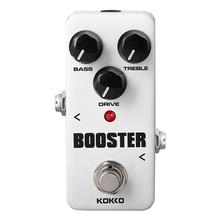 KOKKO Guitar Effect Pedal Guitarra Mini Overdrive Booster High-Power Tube Guitar Two Segment EQ Effect Device Accessories FBS-2 kokko kw 1 guitarra pedal high quality guitar accessories vol wah guitar pedal for guitar lovers