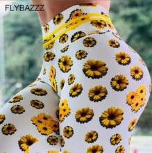 New Sexy Training Women's Sports Yoga Pants Floral Print Leggings Elastic Gym Fitness Workout Running Tights Compression Trouser