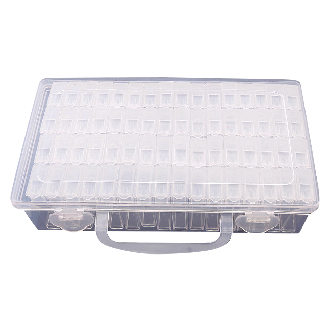 64 Lattices Adjustable Plastic Storage Box Storage Box Box For Jewelry Diamond Embroidery Craft Bead Pill Storage Tool