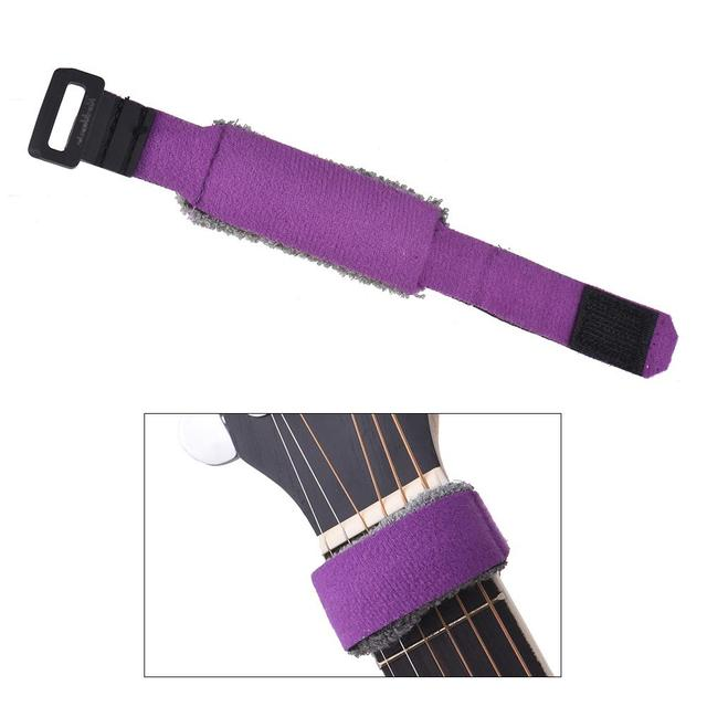 Guitar Fret Strings Mute Dampeners Strap Muter Wraps for Acoustic Classic Guitars Bass Ukulele String Instruments