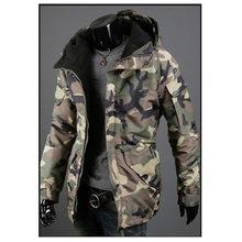 Горячая Стиль Хлопок Одежда Осень Зима Новый Камуфляж ветер для мужчин's кепки куртка пальто хлопковая одежда плюс размеры повседнев