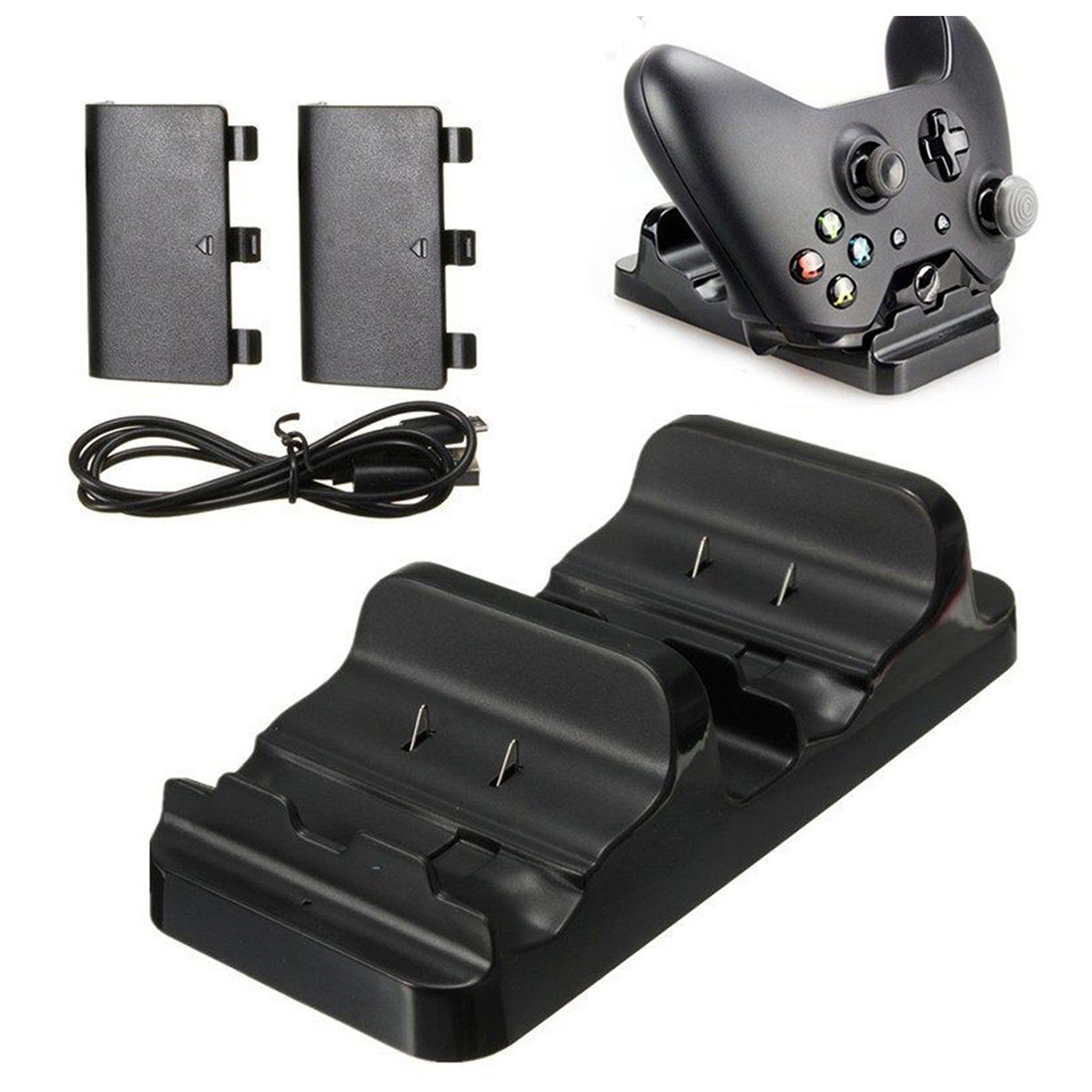 Dual Charging Station Dock Stand   2 Battery For Xbox One Wireless Controller-Hot