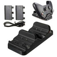 Dual Charging Station Dock Stand + 2 Battery For Xbox One Wireless Controller-Hot
