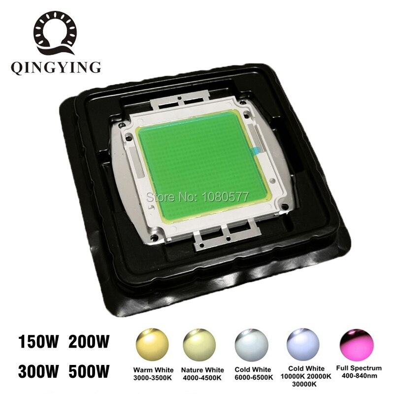 1 pièces 150 W 200 W 300 W 500 W blanc/LED à spectre complet puce COB intégrée pour projecteur réverbère haute baie lumière Source