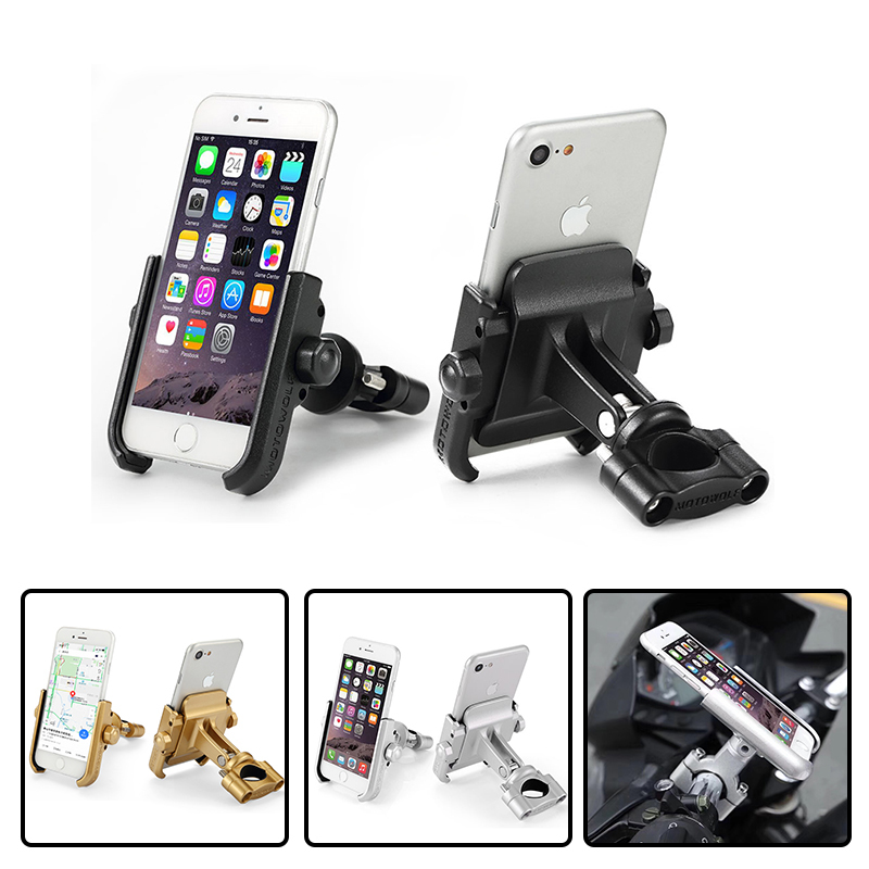 MOTOWOLF Motorcycle Support Modified Phone Holder AL Back Very Cool Styling Metal Aluminum Hold Drop Free