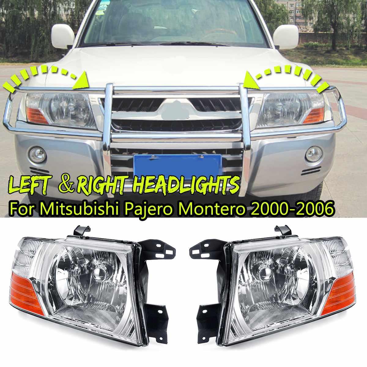 12V Car Light Assembly Fog Light Headlight For Mitsubishi Pajero Montero 2000 2001 2002 2003 2004 2005 2006