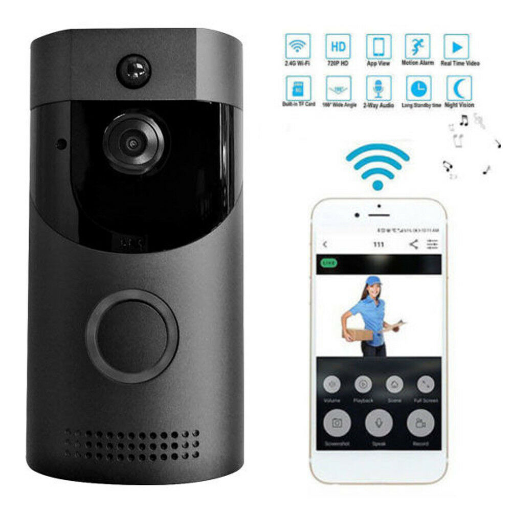 WiFi Anello Campanello Intelligente Campana Senza Fili Della Macchina Fotografica Video Citofono intercom Home SecurityWiFi Anello Campanello Intelligente Campana Senza Fili Della Macchina Fotografica Video Citofono intercom Home Security