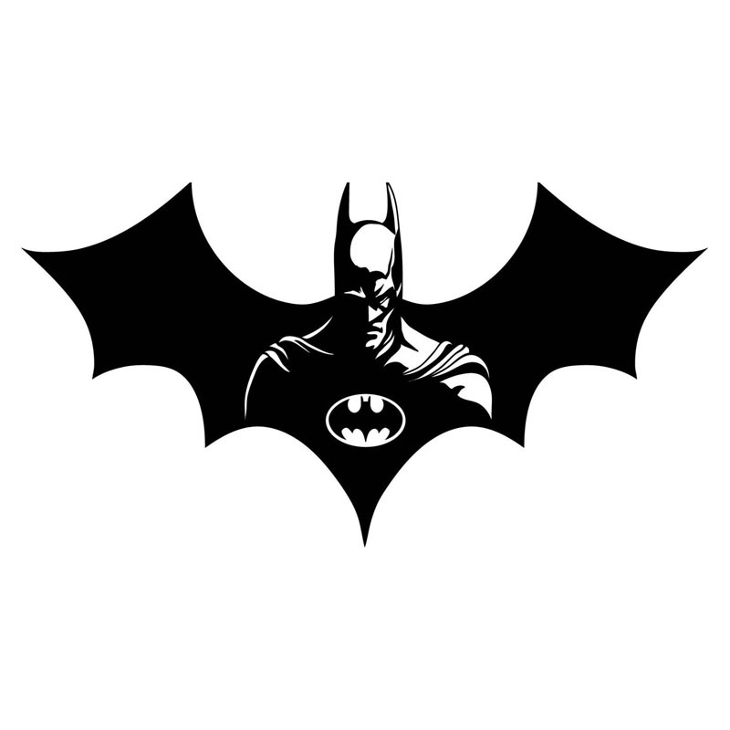 25.4x13.6CM Cool Batman Pattern Fashion Vinyl  Door Decal Personalized Window Stickers