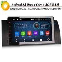 9 DAB + 4 ядра Android 8,1 Авторадио для BMW 5 серии E39 E53 X5 M5 Wi Fi 4G видеорегистратор с радио OBD автомобиля gps навигации игрока Sat Nav