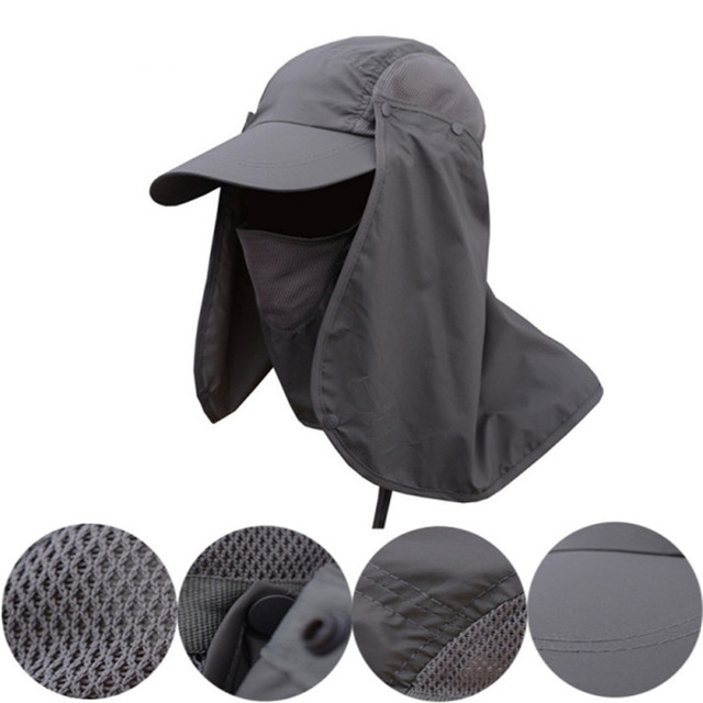 c80ddf45db3 1pcs Portable 360-degree Neck Cover Fishing Hat Sun Ear Flap Bucket Outdoor UV  Protection