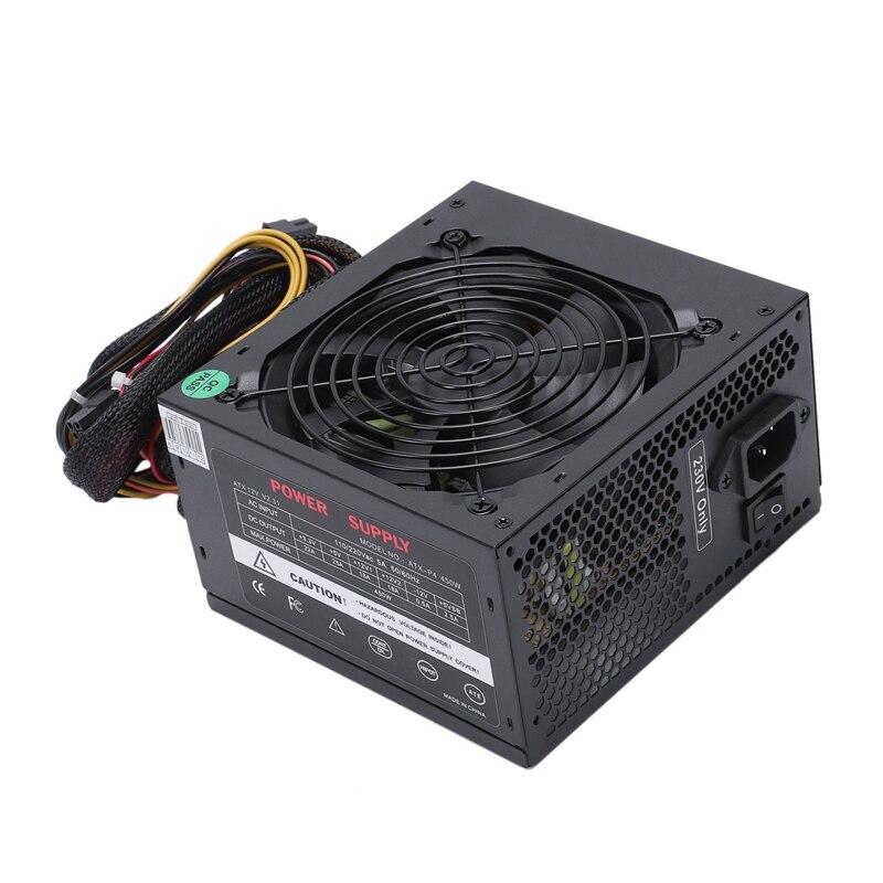 170-260 V Max 450 W alimentation Psu Pfc ventilateur silencieux 24Pin 12 V Pc ordinateur Sata Gaming Pc alimentation pour Intel pour ordinateur Amd
