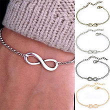 8 Character Silver Bracelet Women Accessories Lucky Woman Bracelets And Bangles Valentine's Day Famous Jewelry Bracelet Female(China)