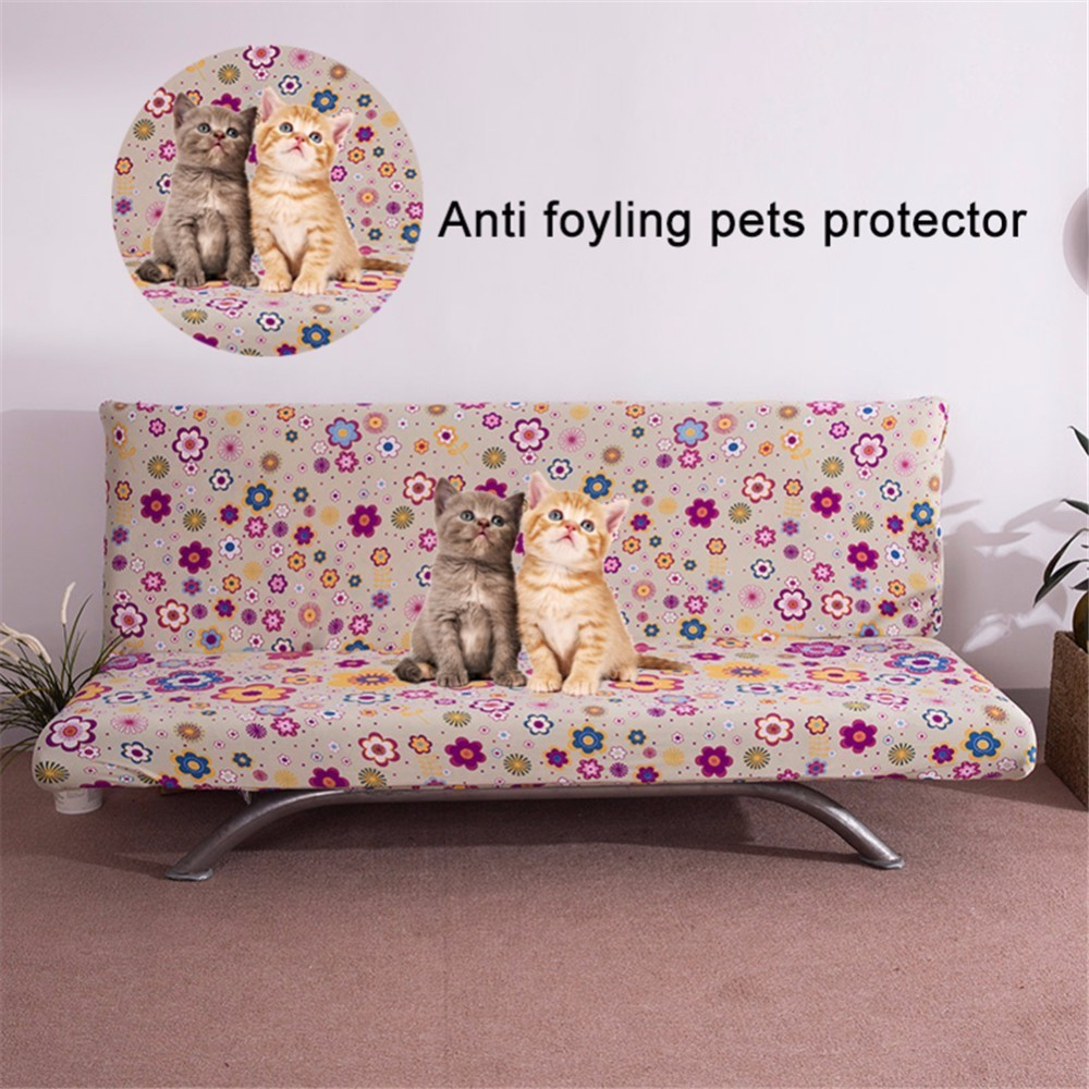 Fabulous Printed Universal Anti Dirty Armless Couch Sofa Covers For Living Room Stretch Sofa Bed Covers Elastic Sofa Bed Slipcovers Download Free Architecture Designs Scobabritishbridgeorg