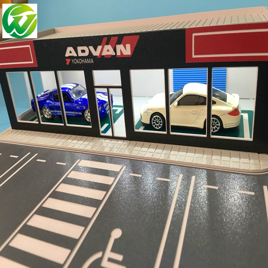 US $25 69 |1/64 car model scene exhibition hall repair modified factory  architecture diorama ho train N scale railway layout-in Model Building Kits