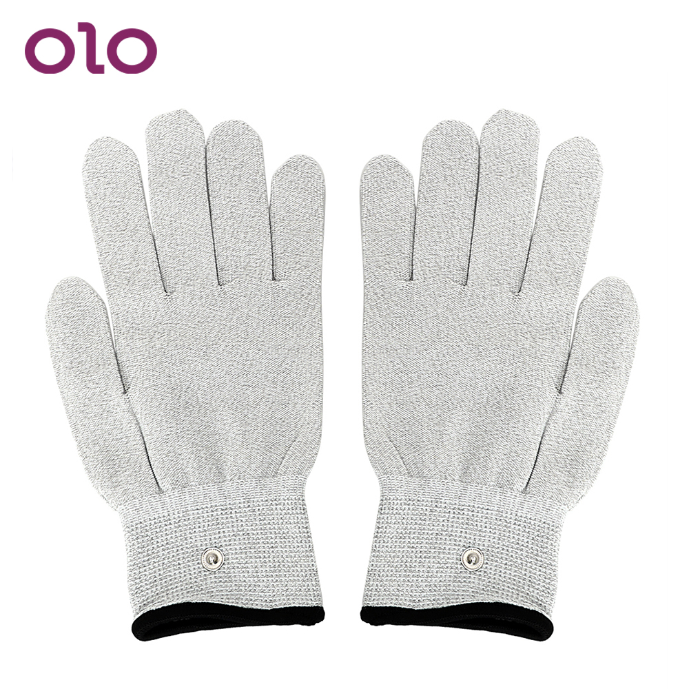 OLO Electric Shock <font><b>Gloves</b></font> Conductive Massage <font><b>Electro</b></font> Stimulation Medical Themed Toys <font><b>Sex</b></font> Toys for Men Women Masturbation image