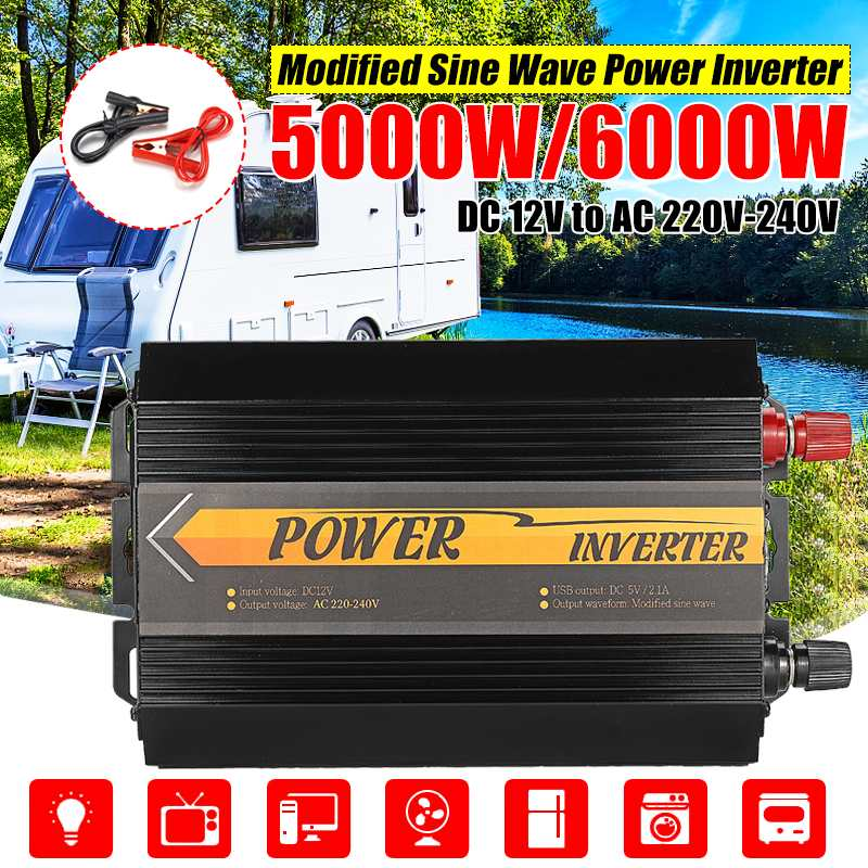 5000 W/6000 W Peaks <font><b>Inverter</b></font> 12 V 220 V USB Auto Modifizierte Sinus Welle Spannung Transformator Solar Power <font><b>inverter</b></font> Konverter Auto Ladung image