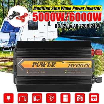 5000W/6000W Peaks Inverter 12V 220V USB Auto Modified Sine Wave Voltage Transformer Solar Power Inverter Converter Car Charge